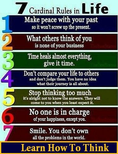 7 cardinal rules of life