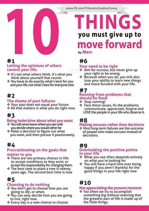 10 things to move you forward