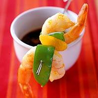 ginger shrimp skewers