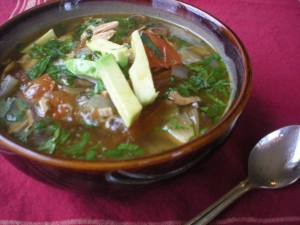 Green Chile Chicken and Lime Soup