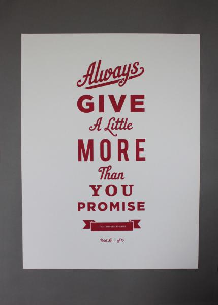 always give a little more