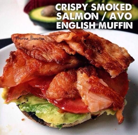 smoked crispy salmon
